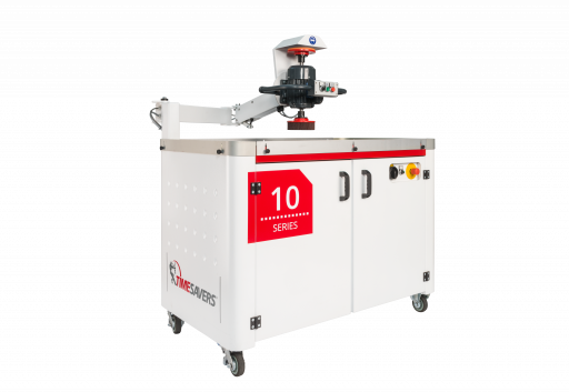 10 series manual grinder for deburring, edge rounding, finishing, laser oxide removal and heavy slag removal