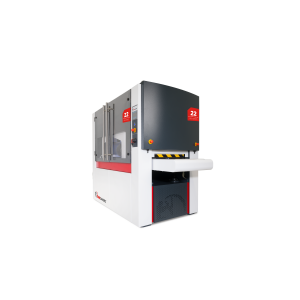Machine for deburring, edge rounding, finishing and laser oxide removal