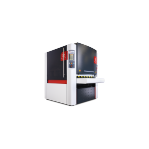 Machine for deburring, edge rounding or laser oxide removal and finishing