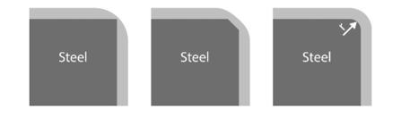 Radius 2 on steel
