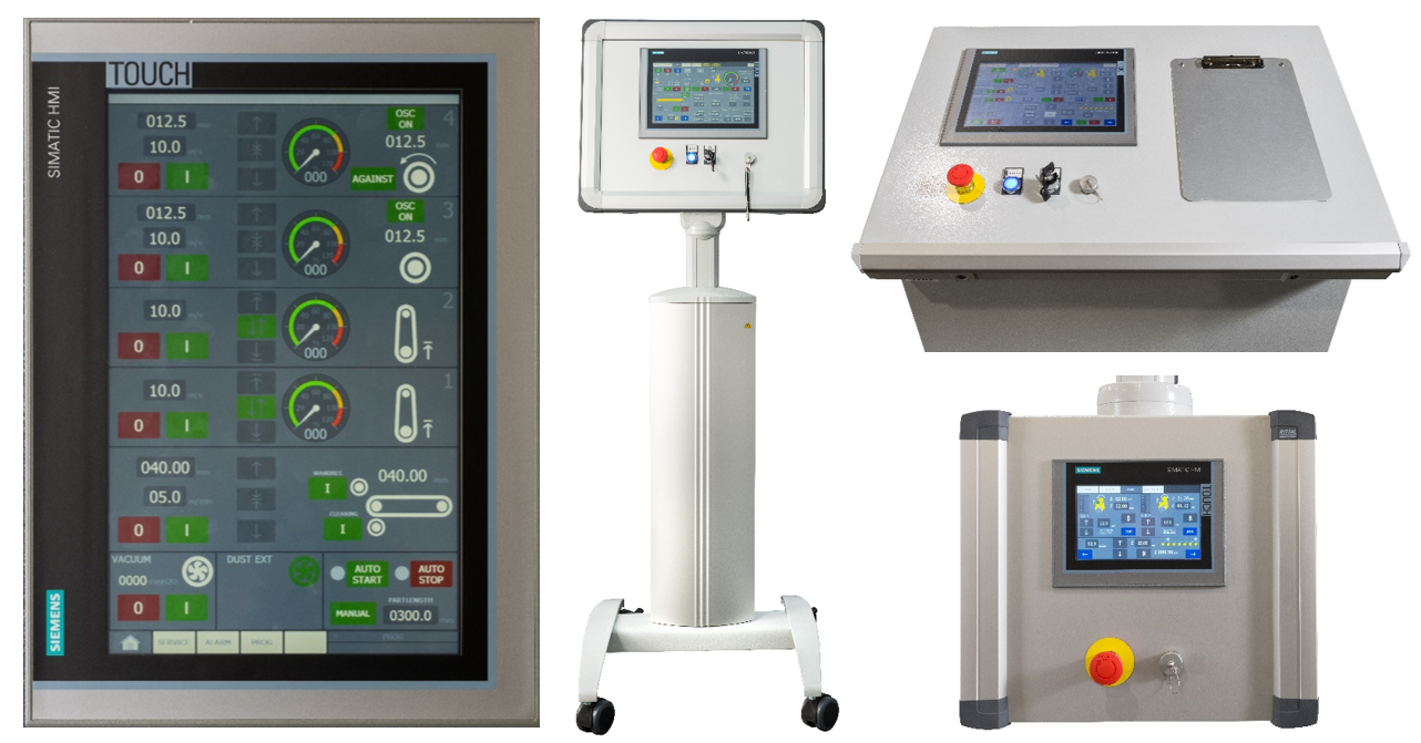 Control panels of deburring machines from Timesavers