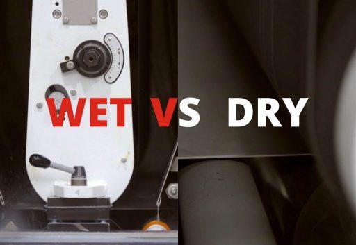 Natte versus droogbewerkingsmachines