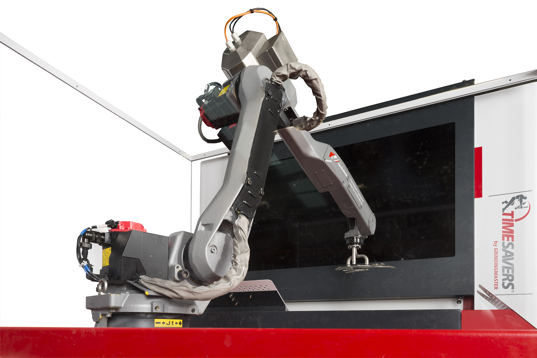 Automation of deburring machine with robots